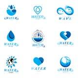 Simbolo globale di vettore di circolazione dell'acqua per uso in acqua minerale royalty illustrazione gratis
