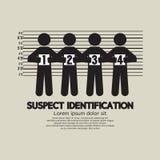 Simbolo grafico dell'identificazione sospetta Fotografia Stock Libera da Diritti