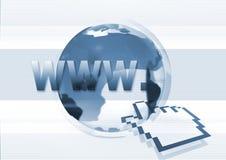 Simbolo grafico di WWW del Internet   Fotografia Stock