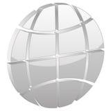 Simbolo grigio del globo Fotografie Stock