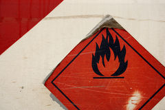 Simbolo infiammabile di Grunge Immagine Stock