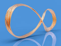 simbolo infinito del cavo 3D Fotografia Stock