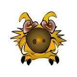 Simbolo lanuginoso sveglio giallo 2019 del cinghiale in calendario lunare cinese Carattere di facocero Maiale di seduta dell'illu royalty illustrazione gratis