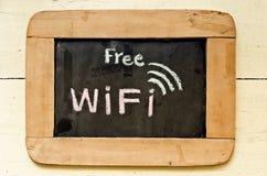 Simbolo libero di wifi Fotografia Stock