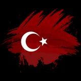 Simbolo, manifesto, insegna Turchia Mappa della Turchia con la decorazione della bandiera nazionale Disegno dell'acquerello di st Immagini Stock Libere da Diritti