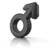 Simbolo maschio Fotografia Stock