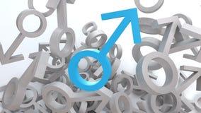 Simbolo maschio Fotografia Stock Libera da Diritti