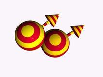 simbolo maschio gaio 3D Fotografie Stock