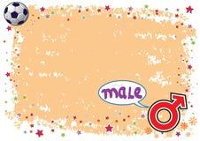 Simbolo maschio nell'illustrazione Colourful Fotografia Stock