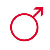 Simbolo maschio umano Fotografia Stock Libera da Diritti