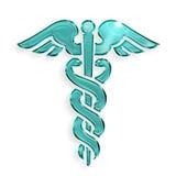 Simbolo medico del caduceo Fotografia Stock Libera da Diritti