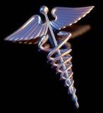 Simbolo medico del Caduceus Fotografia Stock