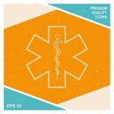 Simbolo medico dell'emergenza - stella di vita Immagine Stock