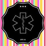 Simbolo medico dell'emergenza - stella di vita Immagini Stock