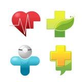 Simbolo medico Logo Set dell'icona Fotografia Stock Libera da Diritti