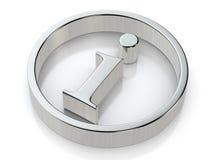 Simbolo metallico di informazioni illustrazione vettoriale