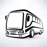 Simbolo moderno del bus Fotografia Stock Libera da Diritti