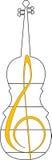 Simbolo musicale Fotografia Stock