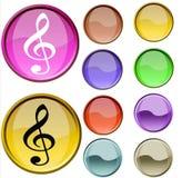 Simbolo musicale Immagini Stock Libere da Diritti