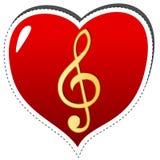 Simbolo musicale di amore illustrazione vettoriale