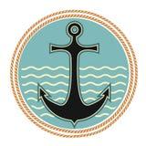 Simbolo nautico dell'ancoraggio illustrazione vettoriale