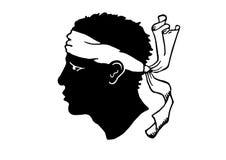 Simbolo nazionale della Corsica Immagini Stock