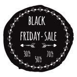 Simbolo nero di vendita di venerdì Fotografie Stock