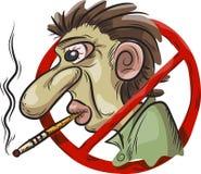 Simbolo non fumatori Fotografia Stock