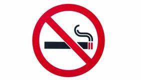 Simbolo non fumatori Fotografia Stock Libera da Diritti