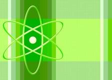 Simbolo nucleare nel verde fotografie stock