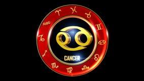 Simbolo occidentale dello zodiaco del Cancro illustrazione vettoriale