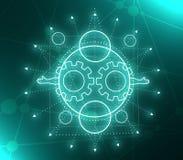 Simbolo occulto mistico illustrazione vettoriale