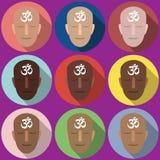 simbolo OM dei ritratti Immagini Stock Libere da Diritti