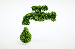 Simbolo organico dell'acqua di Eco Immagine Stock Libera da Diritti