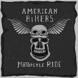 Simbolo per il club del motociclista Immagini Stock