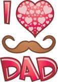 Simbolo per il giorno di padre Fotografia Stock Libera da Diritti