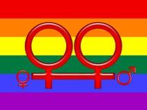 Simbolo per la famiglia gaia Fotografia Stock