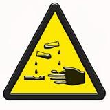 Simbolo pericoloso d'avvertimento dei prodotti Immagini Stock Libere da Diritti
