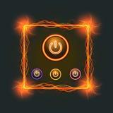 Simbolo potente su una luce nera del fondo Immagine Stock Libera da Diritti