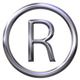 Simbolo registrato Immagine Stock Libera da Diritti