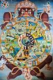 Simbolo religioso del ciclo di vita nella religione buddista Immagini Stock Libere da Diritti