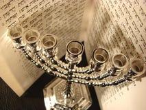 Simbolo religioso ebreo Menorah Fotografia Stock Libera da Diritti