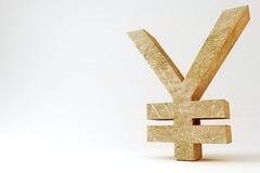 Simbolo roccioso di Yen Immagine Stock