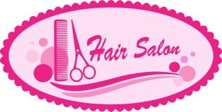 Simbolo rosa del salone di capelli illustrazione di stock