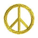 Simbolo rotto incrinato del segno di pace Fotografie Stock Libere da Diritti