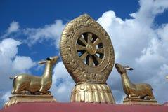 Simbolo santo tibetano Fotografie Stock Libere da Diritti