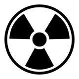 Simbolo/segno di radiazione Fotografia Stock