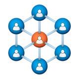Simbolo sociale della rete illustrazione di stock