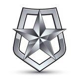 Simbolo stilizzato di vettore su fondo bianco glamorous Immagini Stock Libere da Diritti