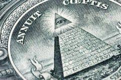Simbolo su un dollaro Fotografia Stock
